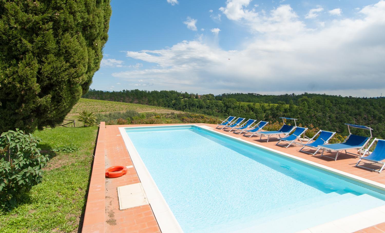 villa near restaurant Large Chianti sleeps 16