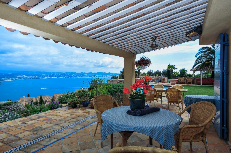 Outdoor Dining Table, L'Hippocampe, Theoule-sur-mer, Cote d'Azur.