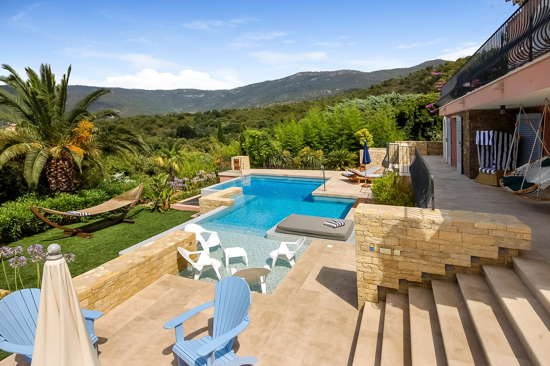 Pool and  View 2, La Grande Baie, Cavaliere, St Tropez Var.