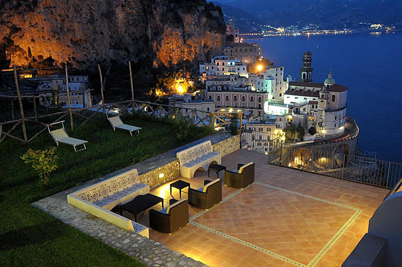 Villa Exterior Night 2, Il Delfino, Atrani, Amalfi Coast Campania.