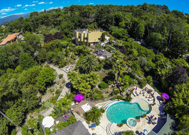 Villa, Pool and Grounds 2, La Pagode, Mougins, Cote D'Azur.