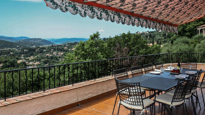 Villa Balcony Views, Grande Vue, Speracedes, Cote d'Azur.
