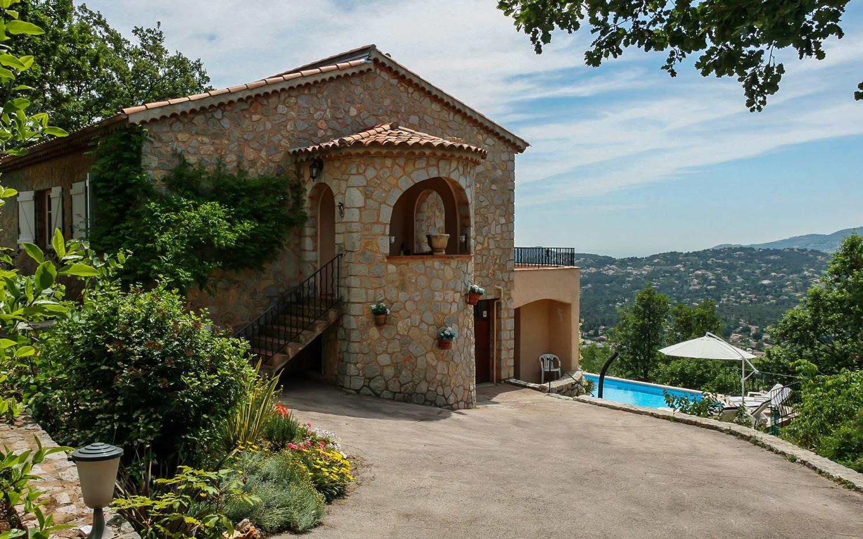 Villa Exterior, Grande Vue, Speracedes, Cote d'Azur.