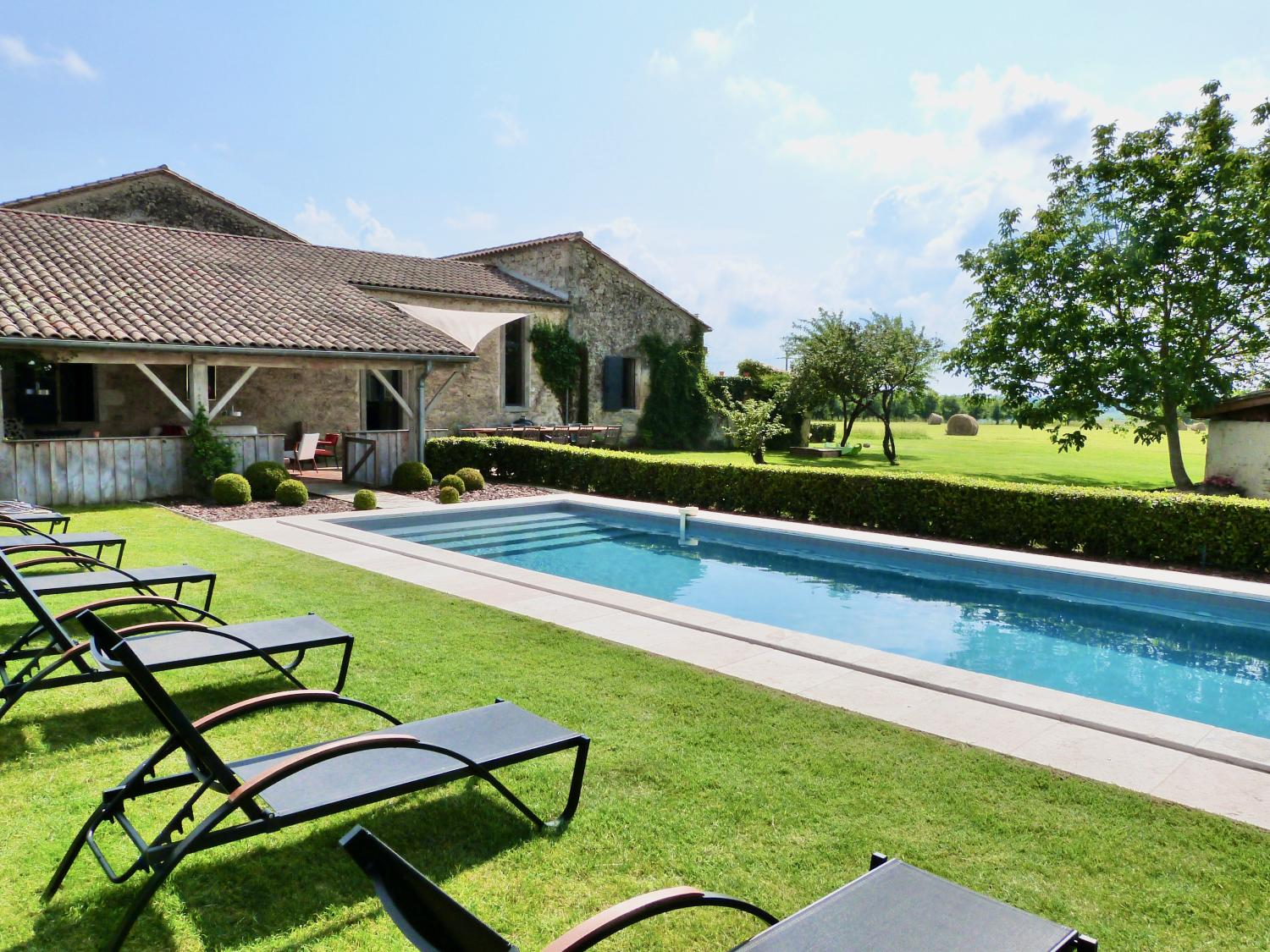 Outdoor Pool 1, La Champetre, Duras, South West France.