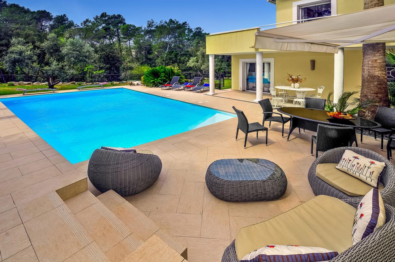 Outdoor patio and pool, Arc en Ciel, Cote D'azur.