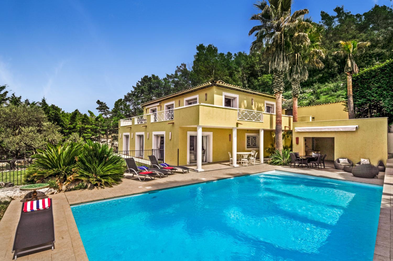 Pool and villa exterior, Arc en Ciel, Cote D'azur.