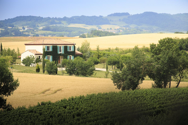 Villa Exterior, L'Orbelle, Mirepoix, Languedoc.