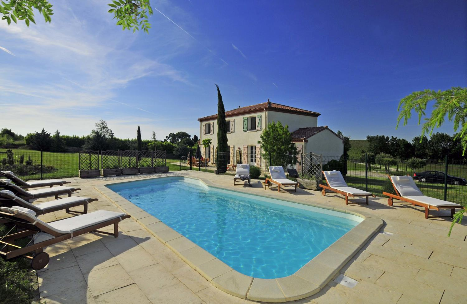 Outdoor Pool 1, L'Orbelle, Mirepoix, Languedoc.