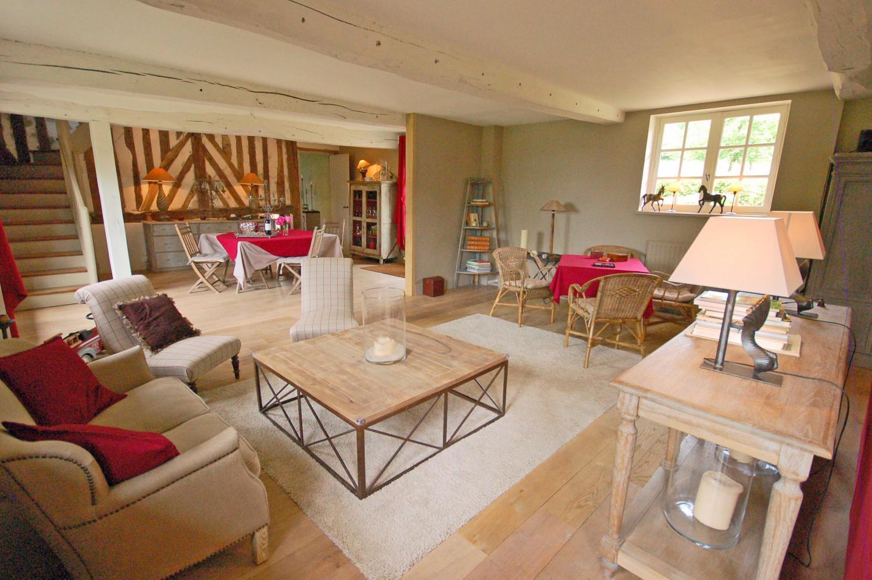 Living Room, Le Clos en Auge, nr. Pont L'Eveque, Normandy.
