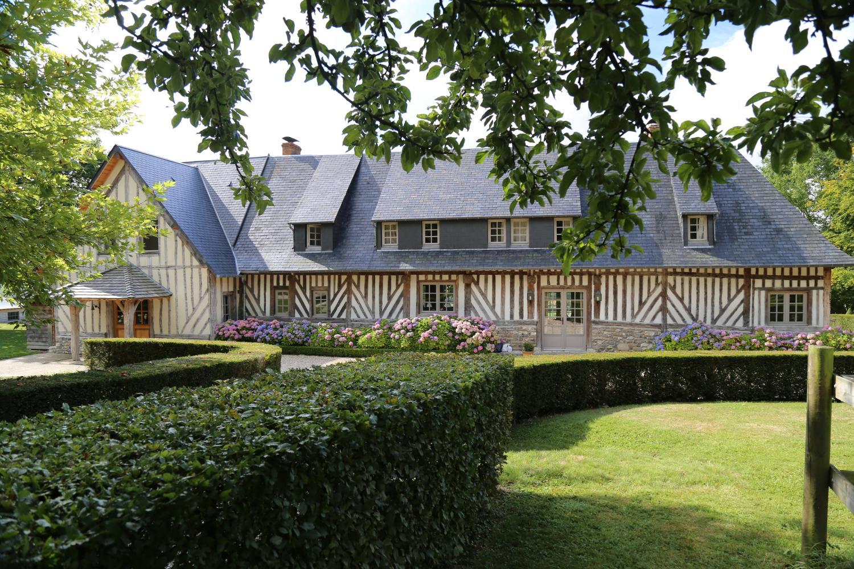 Villa Exteriour, Le Clos en Auge, nr. Pont L'Eveque, Normandy.