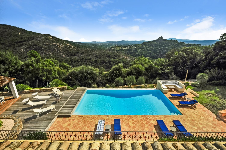 Pool and View , La Radieuse, Grimaud, St Tropez Var.