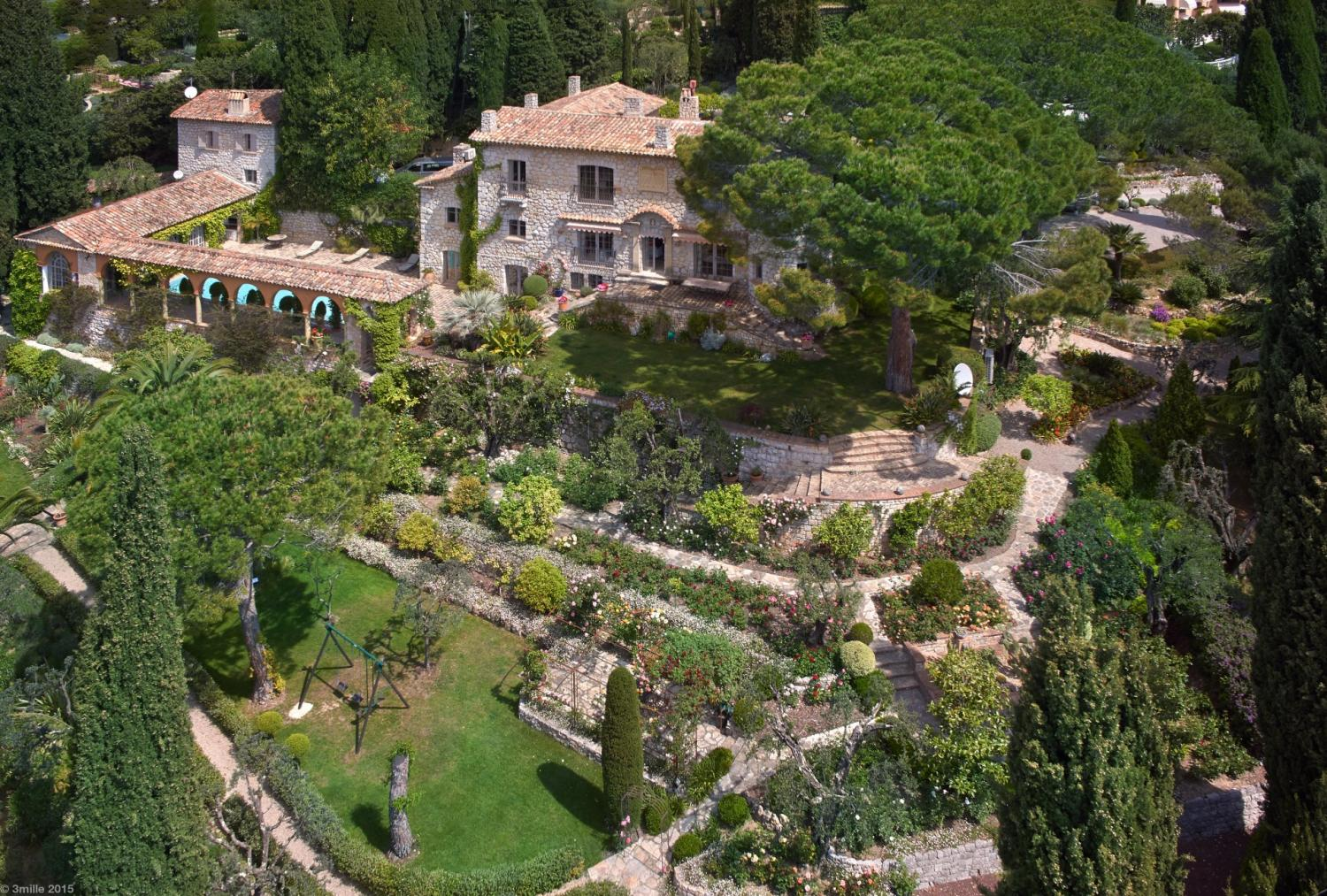 Villa Exterior and Pool, La Roseraie, Mougins, Cote D'Azur.