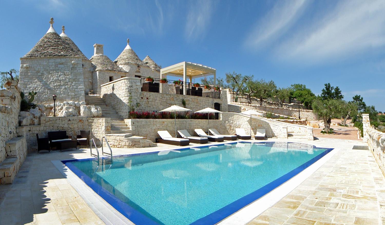 Puglia trulli near Alberobello with pool