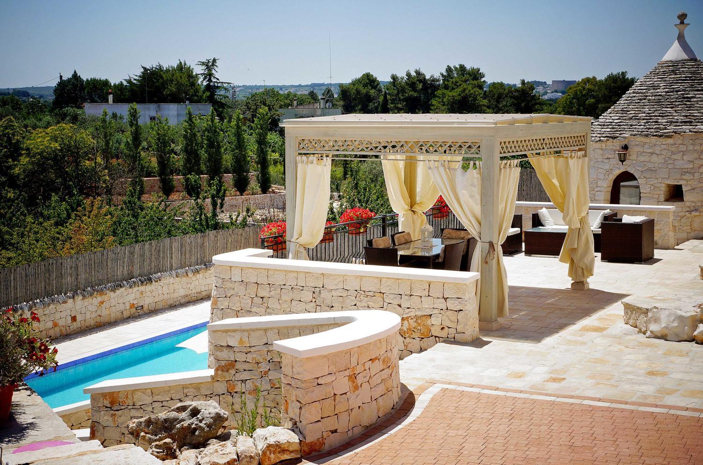 pool trulli near Alberobello Apulia