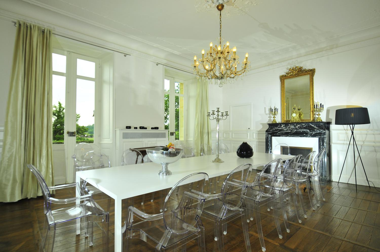 Dining Room, Chateau de Redon, Hautefort, Dordogne.