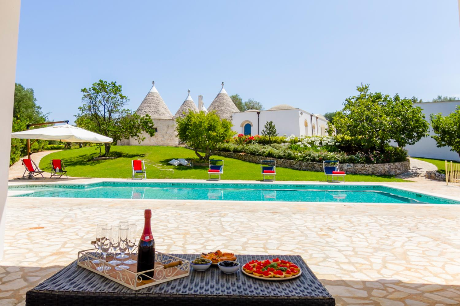 luxury trullo with pool