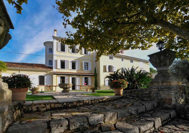 Villa Exterior, La Floraison, Grasse, Cote d'Azur.