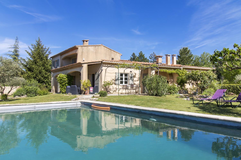 Villa Exterior and Pool, La Luberonne, St Saturnin Les Apt, Provence.