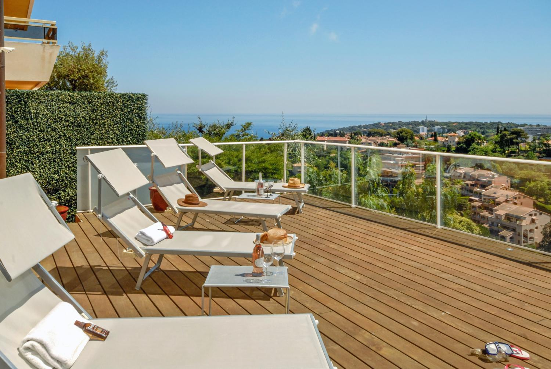 Outside Area and View , La Martinette, Menton, Cote D'Azur.