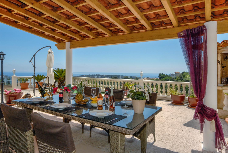Outside Dining Area, La Martinette, Menton, Cote D'Azur.