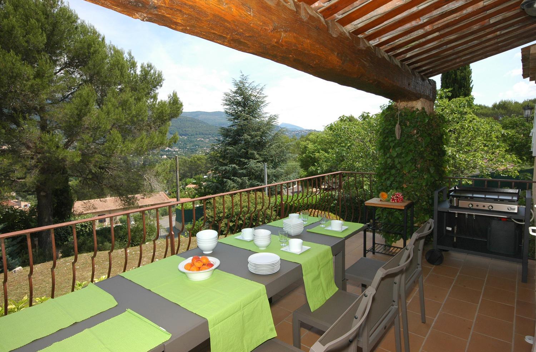 landscape views in luxury french cote d'azur villa