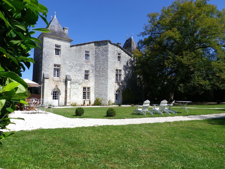 Villa Exterior, Chateau de Sers, Angouleme, Vendee Charente.