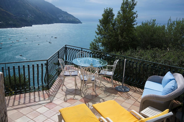 Villa Terrace Views, Il Gabbiano, Positano, Amalfi Coast Campania.