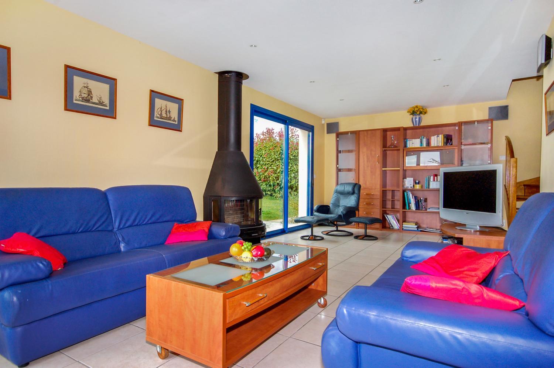 Living Room, Gaelle, Moelan-Sur-Mer, Brittany.