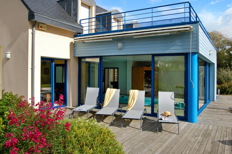 Pool House Exterior 2, Gaelle, Moelan-Sur-Mer, Brittany.
