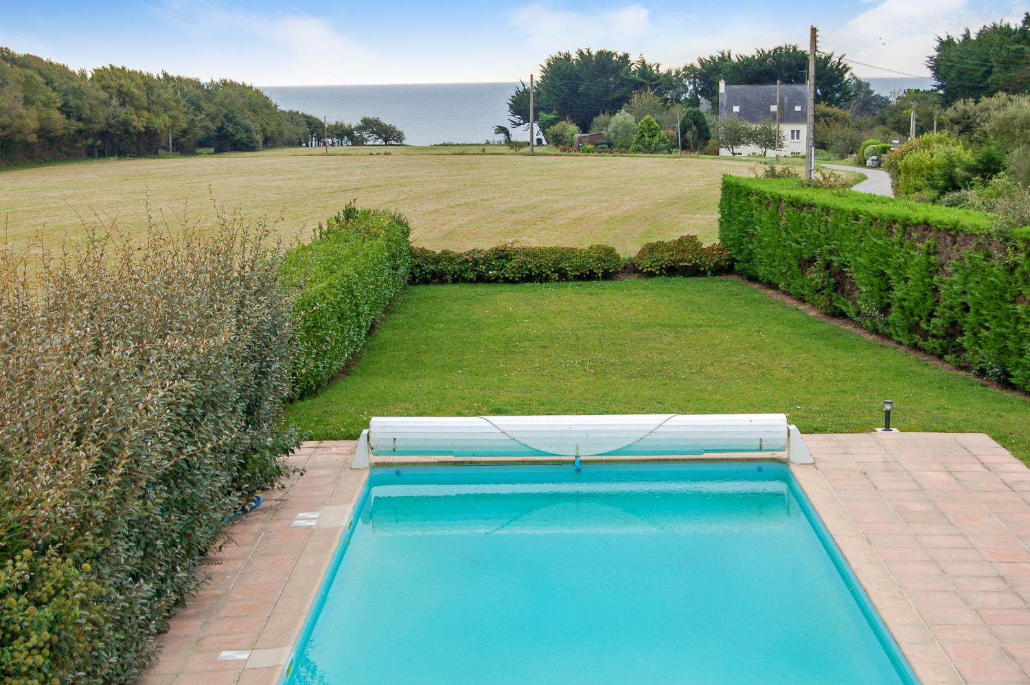 Brittany seaside villa with pool