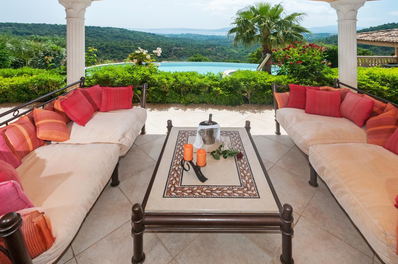 Outdoor Seating Area, La Colonnade, Grimaud, St Tropez Var.