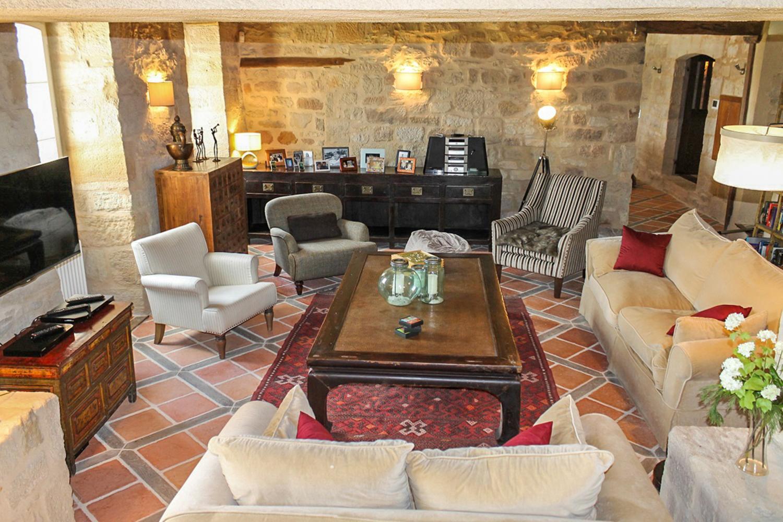Living Room, La Dame du Causse, Figeac, South West France.