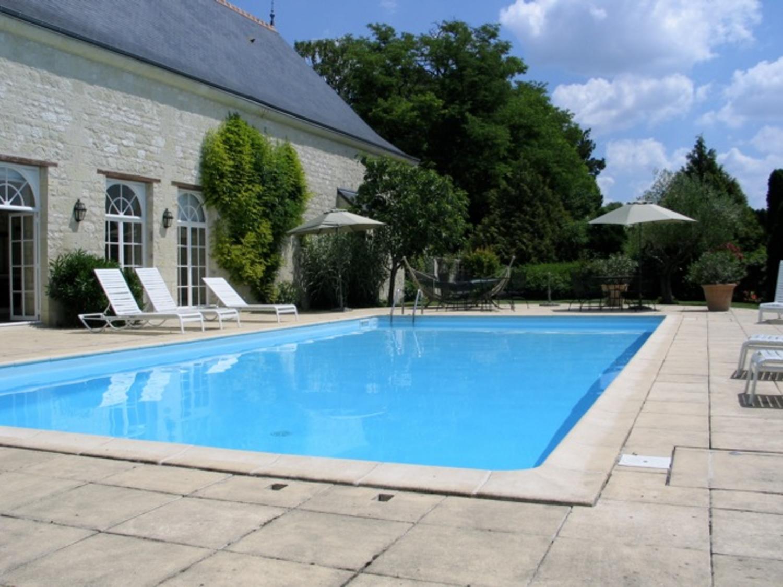 Outdoor Pool, Chateau de Detilly, Loire, Saumur.