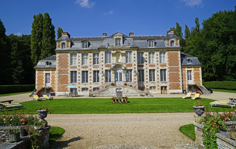 Villa Exterior, Chateau de Saint Maclou, Saint-Maclou, Normandy.