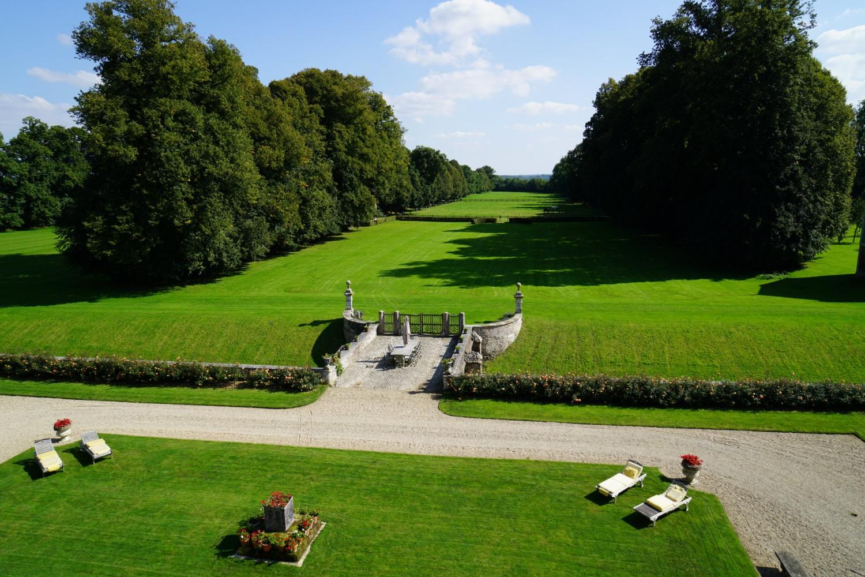 Villa Garden, Chateau de Saint Maclou, Saint-Maclou, Normandy.