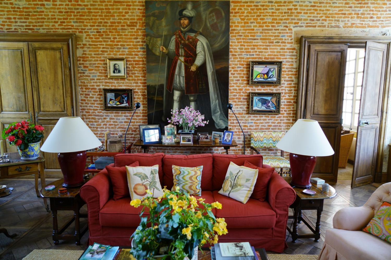 Living Room, Chateau de Saint Maclou, Saint-Maclou, Normandy.