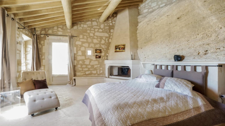 Bedroom 1, La Roche des Alpilles, Les Baux de Provence, Provence.