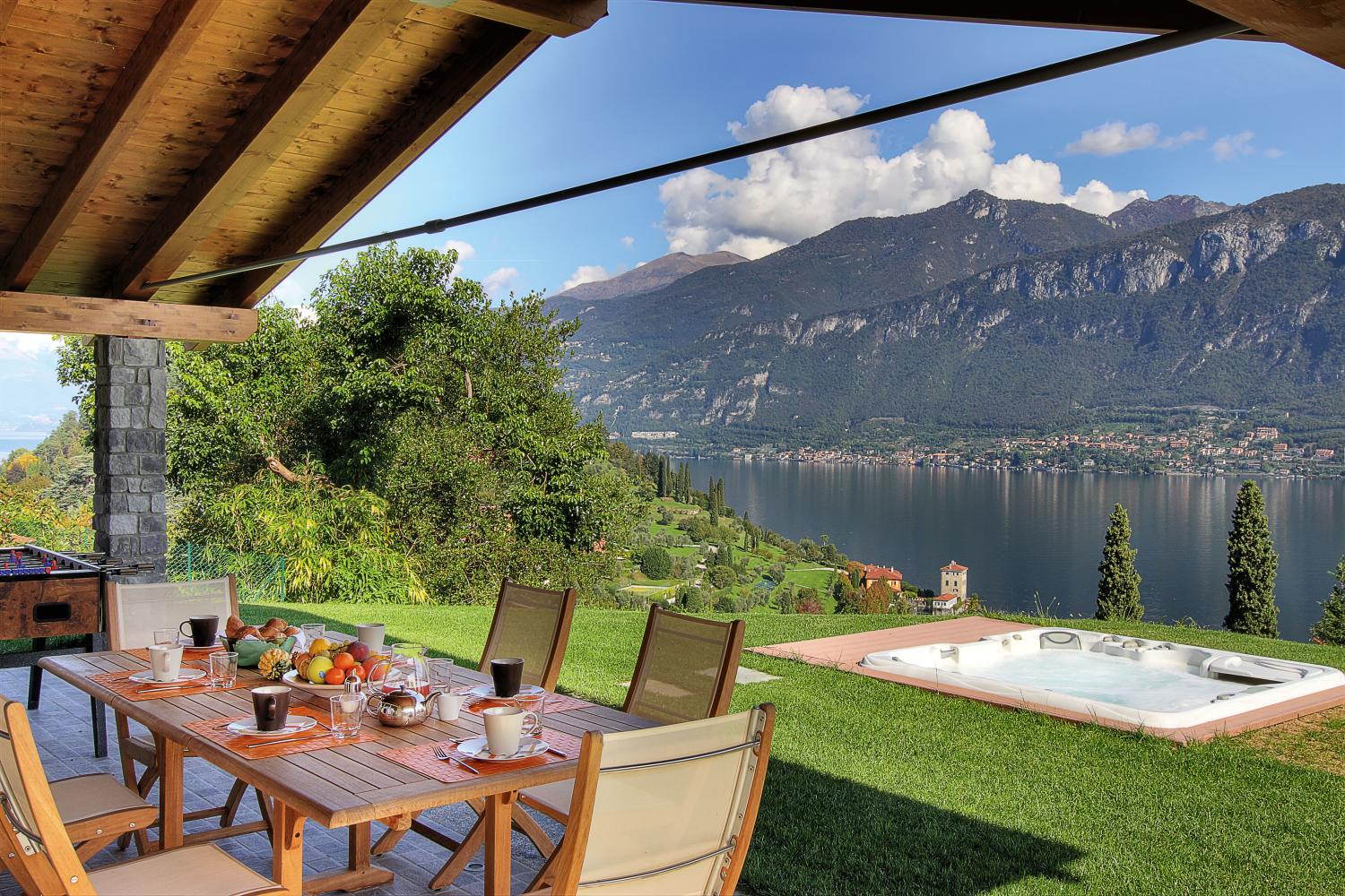 Outdoor Seating Views, Imperatrice, Bellagio, Italian Lakes.