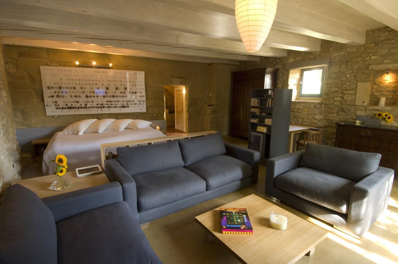 Living Area 2, La Libellule, nr Uzes, Gard, Languedoc.