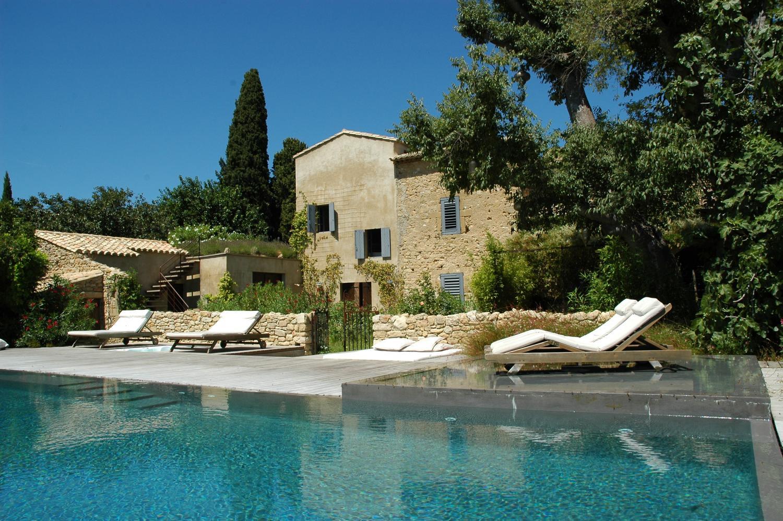 Pool and Villa Exterior, La Libellule, nr Uzes, Gard, Languedoc.