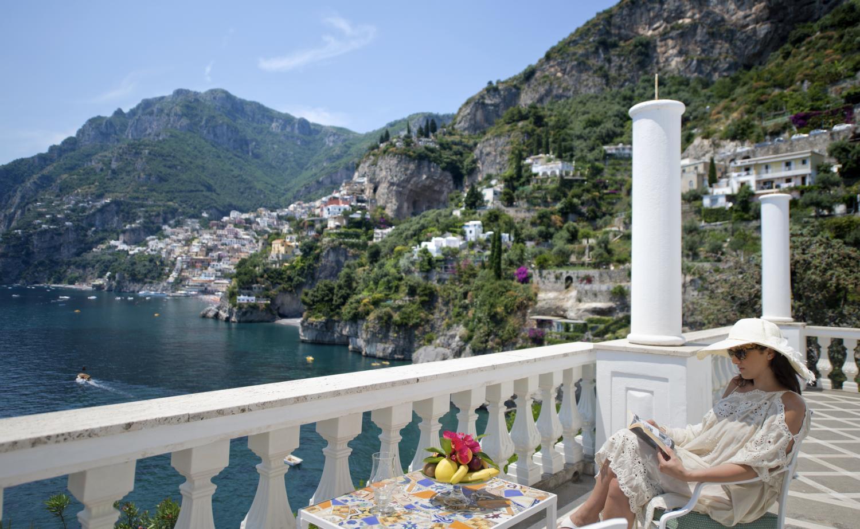 Villa Terrace Views, Il Maestro, Positano, Amalfi Coast Campania.