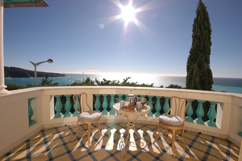 Summer balcony, Belle Epoque, Cote d'Azur, Nice.