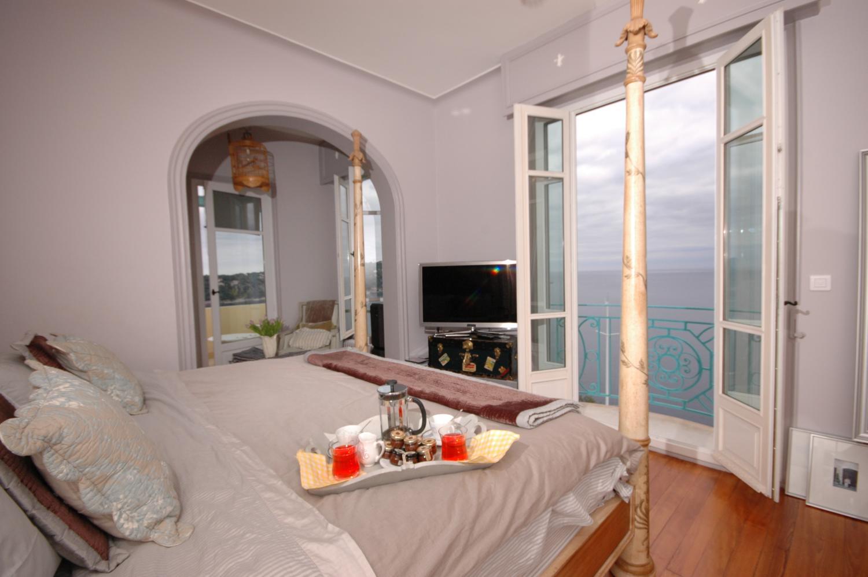 Bedroom 1, Belle Epoque, Cote d'Azur, Nice.