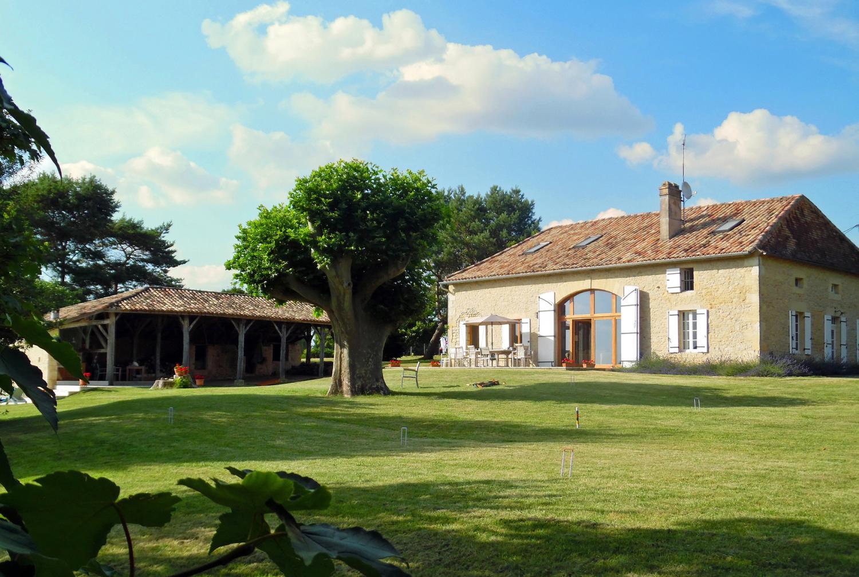 Villa Exterior, Duraine, Duras, South West France.