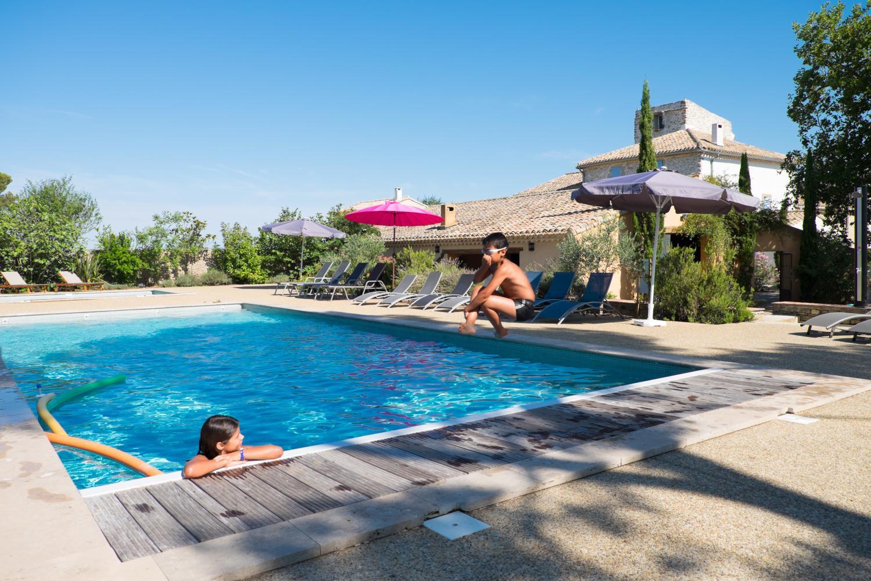 Outdoor pool, Belles Vignes, Languedoc.