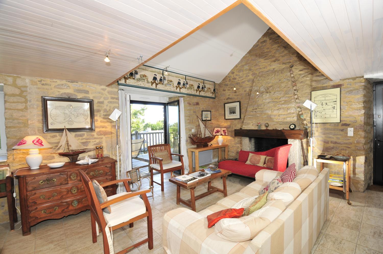 Living Room, Grange du Morbihan, Baden, Brittany.