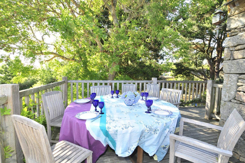 Outdoor Dining Area, Grange du Morbihan, Baden, Brittany.