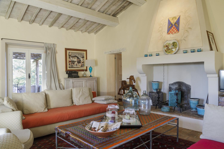 Italy Tuscany Siena Acquachiara living room