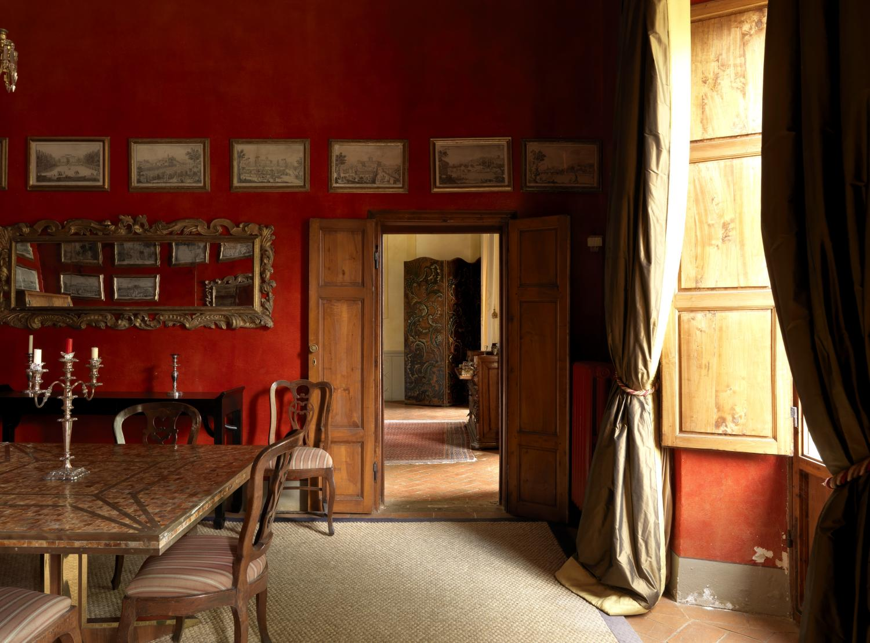 dining room, Palazzo Impruneta, Tuscany,