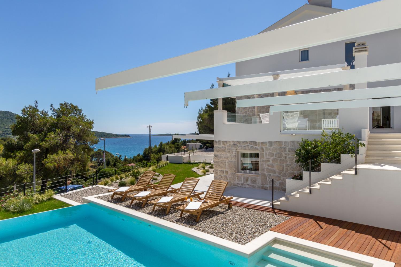 croatia, Split Riviera, Primosten, villa Nika, sea view